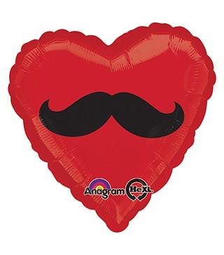 Кулька фольгована Серце з вусами