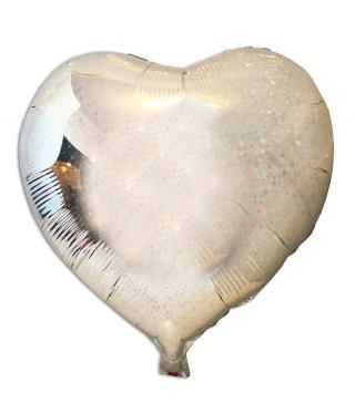 Кульки з п/п Серце-голограма срібло (3г) 21571 Китай