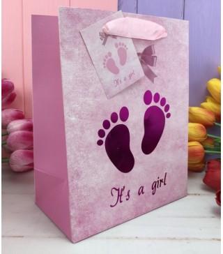 """Пакети подарункові"""" Це дівчинка"""" 26*32*12 9149 Китай"""