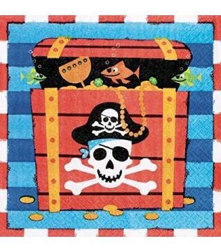 Серветки Пірати 16шт/уп 519877 Amscan