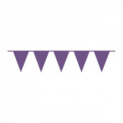 Гирлянда-флажки фиолетовые