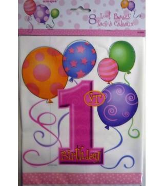 Пакети 1st Birthday рожеві