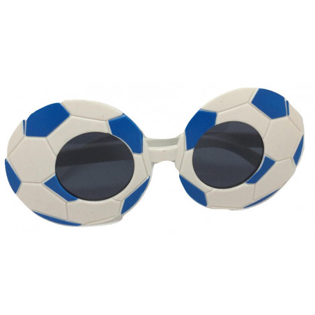 Очки Футбол бело-синие
