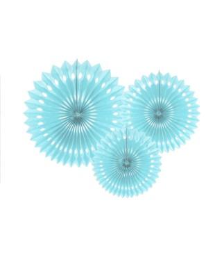 Паперові кулі-соти голубі 3шт уп 20см 25см. 30см 74993 Китай