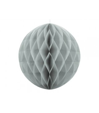 Бумажный шар-соты сераый 30см
