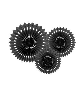 Паперові кулі-соти чорні 3шт уп 20см 25см. 30см 74991 Китай