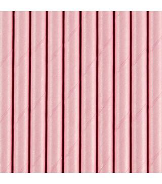 Трубочки для коктейля розовые 25шт/уп