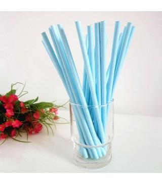 Трубочки для коктейля голубые 25шт/уп