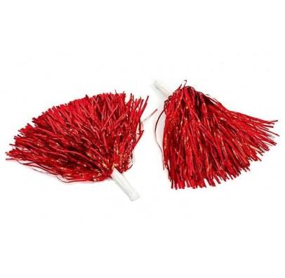 Помпони для черлідінгу 2 шт./уп.червоні 27626 Китай