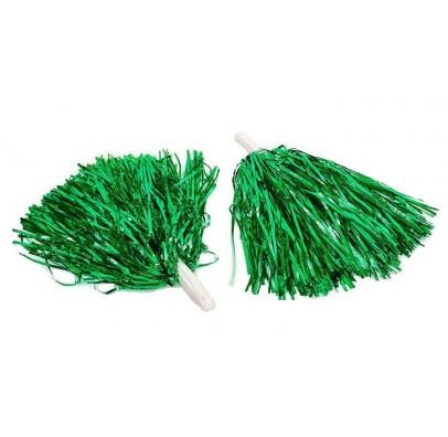 Помпони для черлідінгу 2 шт./уп.зелені 27622 Китай