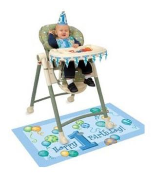 Декорация на Годувальне кресло 1-й год голубая