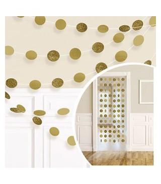 Декорація Підвіска золоті кульки 2.13 м 6шт/уп 672424.19 Amscan