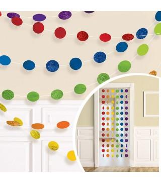 Декорація Підвіска кольорові кульки 2.13 м 6шт/уп 672424.90 Amscan