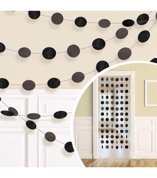 Декорація Підвіска Чорні кульки 2.13 м 6шт/уп 672424.10 Amscan