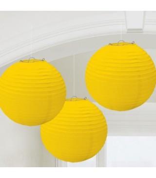 Бумажные шары желтые 3шт/уп
