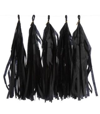 Гірлянда ''Помпони чорні 37см 6шт 215615 Китай