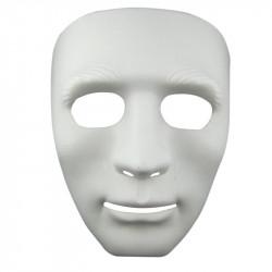 Маска белая без лица мужская