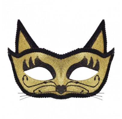 Маска Кошки золотая