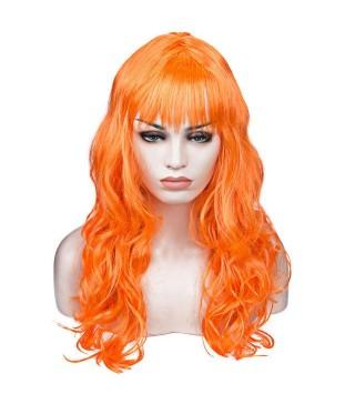 Парик волнистый оранжевый