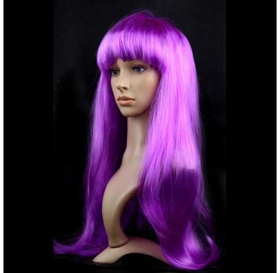 Парик прямой фиолетовый