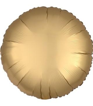 Кульки фольг.б/м Круг сатин золото. (3г) 36801 Anagram
