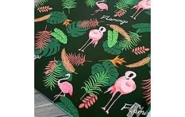 Подарунковий папір Фламінго зелений