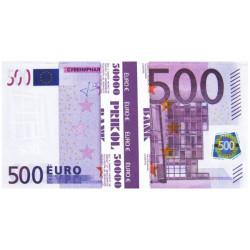 Пачка грошей 500 євро