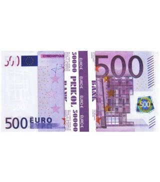 Пачка денег 500 евро