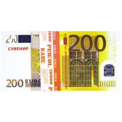 Пачка денег 200 евро