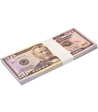 Пачка денег 50 долларов