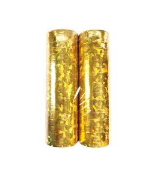 Серпантин голографічний золотий