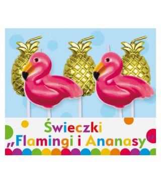 Свічка в торт з фігурками Фламінго і ананас 5шт 10747 Godan