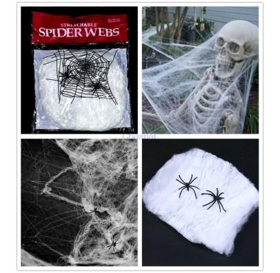 Декорація павутина біла капрон G-005