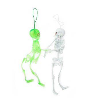 Скелет 21см зелений резина C-2129