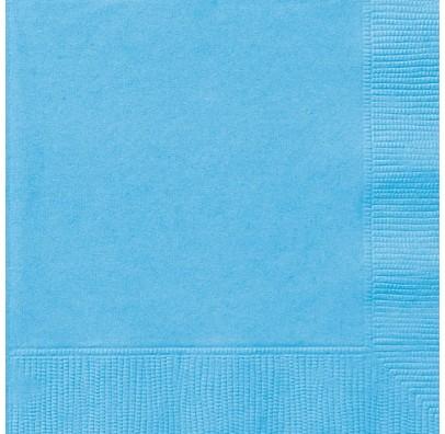 Серветки 20шт блакитні 30892