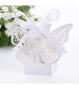 Бонбоньєрка Метелик білий