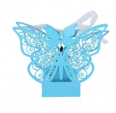 Бонбоньєрка метелик голубий папір БО-31026 Китай