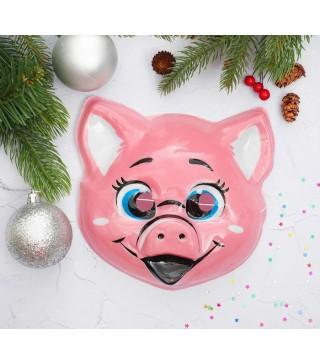 Маска дит.Свинка пластик 10161