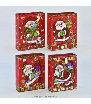 Подарунковийі пакет Сніговик асорті 23*18*10 папір 47710 Китай