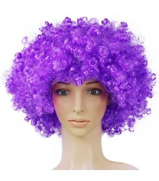 "Перука ""Кудряшка""фіолетова штучне волосся S-10700 Китай"