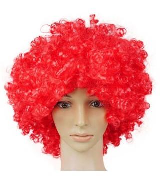 """Перука """"Кудряшка""""червона штучне волосся S-10708 Китай"""