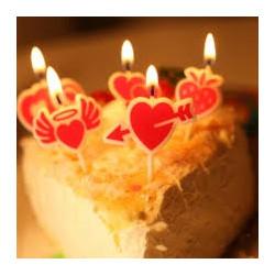 Свічка в торт з фігурками Серце з стрілою парафін 221434 Китай