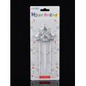 Свічка в торт з фігурками Happy birthday Зірки 4шт. парафін 56575 Китай