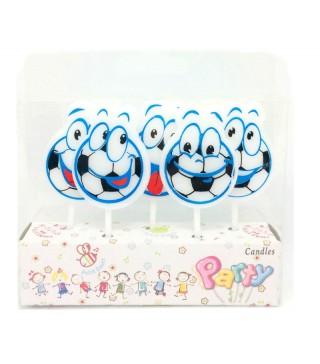 Свічка в торт з фігурками Happy birthday Футбол парафін 221435 Китай