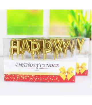 Свічки Happy Birthday Асорті