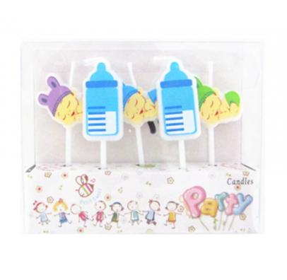 """Свічка в торт з фігурками """" Happy birthday""""Малятко гол. парафін 221436 Китай"""