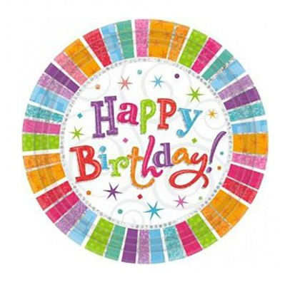 Тарелки Happy Birthday 8шт/уп