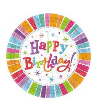 Тарілки Happy Birthday 8шт/уп