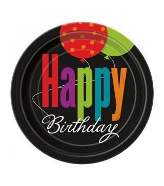 Тарілки Happy birthday 8шт