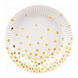 Тарілки білі в золотий...